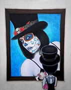 Model Painting Originals - Bella Muerte A Work of Art by Al  Molina
