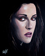 Twilight Painting Originals - Bella Swan - Kristen Stewart by Tom Carlton