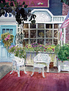 East Hampton Painting Framed Prints - Bella Victoria on Main Framed Print by Katherine  Berlin