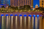 Las Vegas Pyrography Prints - Bellagio Bridge Print by Zachary Cox