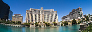Las Vegas Framed Prints - Bellagio Resort and Casino Panoramic Framed Print by Edward Fielding
