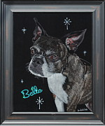 Pet Tapestries - Textiles - Belle Black Velvet Painting by Diane Bombshelter