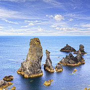 Les Photos - Belle Ile Brittany France Les Aiguilles de Port Coton by Colin and Linda McKie
