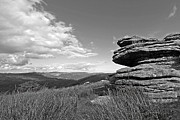 Tor Framed Prints - Bellever Tor Dartmoor in Black and White Framed Print by Gill Billington