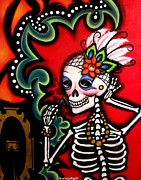 Sugar Skull Posters - Belleza Interior - Inner Beauty Poster by Laura and Karina Gomez
