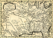 Maps Paintings - Bellins History of the Louisiana Territory 1757 by MotionAge Art and Design - Ahmet Asar