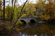 Fairmount Park Prints - Bells Mill Autumn Print by Bill Cannon