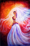 Bellydancer Paintings - Belly dancer by Lilia D