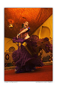 Belly Dancer Lisa Goodrich At The Mataam Fez Print by Cynthia Holling-Morris