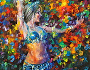 Belly Dancer Paintings - belly dancer NEW by Leonid Afremov