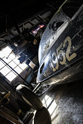 Bonneville Images Photos - Belly Tanker - Old Crow Speed Shop- Metal and Speed by Holly Martin