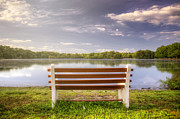 Contemplative Art - Belmont Bench by Vicki Jauron