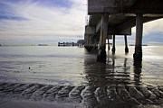 Beach Scenery Prints - Belmont Veterans Memorial Pier Print by Heidi Smith