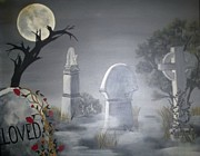 Headstones Paintings - Beloved by Ann LaMar