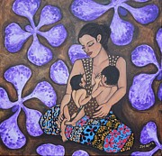 Breastfeeding Paintings - Beloved by Jennifer Mourin
