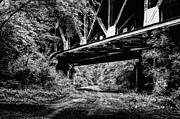 Railroads Photo Metal Prints - Below the Skyway Metal Print by JC Findley
