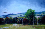 Rugby Painting Posters - Belper Rugby Club Poster by Ruth Gray