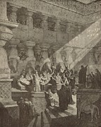 Belshazzar Art - Belshazzars Feast by Antique Engravings