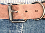 Seams Prints - Belt on Jeans Print by Wim Lanclus