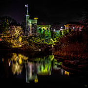 Belvedere Castle Framed Prints - Belvedere Castle At Night Framed Print by Chris Lord
