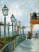 Montmartre Paintings - Belvedere Overlooking Montmartre 1886 by Vincent Van Gogh
