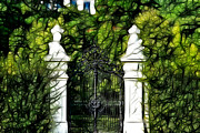 Window Bars Prints - Belvedere Palace Gate Print by Mariola Bitner