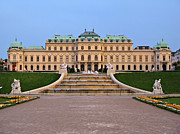 Viennese Metal Prints - Belvedere Palace in Vienna Metal Print by Kiril Stanchev