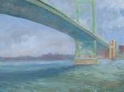 Ben Franklin Paintings - Ben Franklin Bridge by Dora Todd