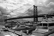 Philadelphia Photographs Prints - Ben Franklin Bridge Print by Dorin Adrian Berbier