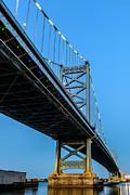 Ben Franklin Bridge Print by Louis Dallara
