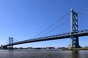 Benjamin Franklin Prints - Ben Franklin Bridge Print by Olivier Le Queinec
