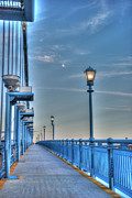 Ben Franklin Bridge Prints - Ben Franklin Bridge Walkway Print by Jennifer Lyon