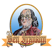 John Keaton Metal Prints - Ben Franklin Metal Print by John Keaton