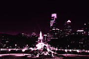 Franklin Art - Ben Franklin Parkway in Black and White by Bill Cannon