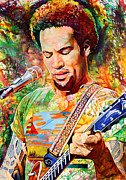 Singer  Paintings - Ben Harper 2012 by Joshua Morton