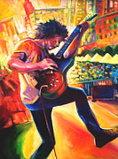Live Music Drawings - Ben Kweller by Steve Hunter