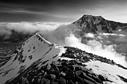 Temperature Inversion Photo Framed Prints - Ben Nevis North Face Framed Print by Justin Foulkes
