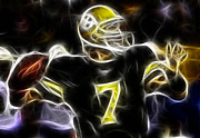 Paul Ward Metal Prints - Ben Roethlisberger  - Pittsburg Steelers Metal Print by Paul Ward