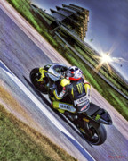 Motogp Posters - Ben Spies at Indy Poster by Blake Richards
