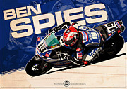 Style Digital Art Originals - Ben Spies - SBK 2009 by Evan DeCiren