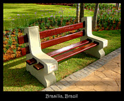 Benches Acrylic Prints - Bench 06 by Roberto Alamino