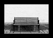 Patio Prints - Bench at a wall  Print by Tommy Hammarsten