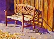 Prescott Painting Framed Prints - Bench At Sharlot Hall Framed Print by Robert Hooper