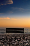 Empty Bench Framed Prints - Bench Framed Print by Stylianos Kleanthous