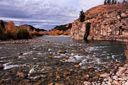 Gros Ventre Posters - Bend in the River Poster by Angelique Rea