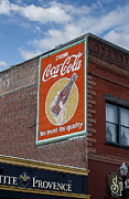 Layered Prints - Bend Oregon Coke Sign Print by Gary Grayson