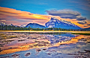 Rundle Prints - Beneath a Cloak of Clouds Print by Tara Turner