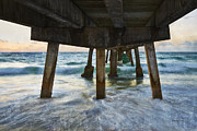 Pier Pyrography Prints - Beneath Anglins fishing pier Print by Eyzen Medina