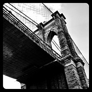 Brooklyn Bridge Prints - Beneath the Bridge Print by Natasha Marco