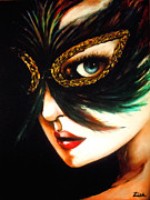 New Orleans Oil Painting Originals - Beneath The Mask by Karen Zima